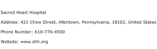 Sacred Heart Hospital Address Contact Number