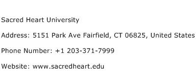 Sacred Heart University Address Contact Number