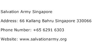 Salvation Army Singapore Address Contact Number