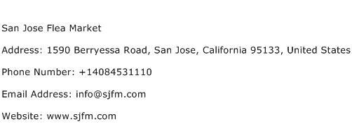 San Jose Flea Market Address Contact Number