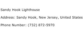 Sandy Hook Lighthouse Address Contact Number