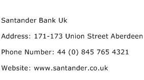 Santander Bank Uk Address Contact Number
