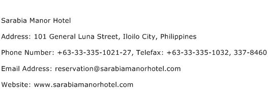Sarabia Manor Hotel Address Contact Number
