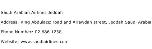 Saudi Arabian Airlines Jeddah Address Contact Number