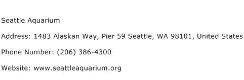 Seattle Aquarium Address Contact Number