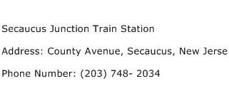 Secaucus Junction Train Station Address Contact Number
