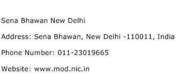Sena Bhawan New Delhi Address Contact Number