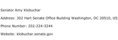 Senator Amy Klobuchar Address Contact Number