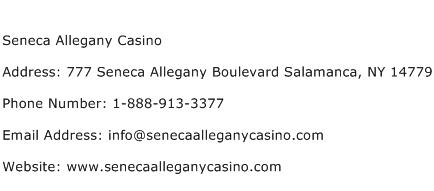 Seneca Allegany Casino Address Contact Number