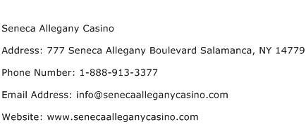 Seneca Allegany Casino Address Contact Number