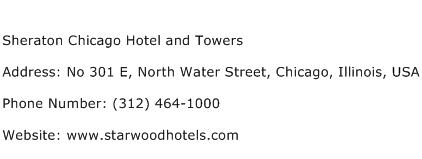 Sheraton Chicago Hotel and Towers Address Contact Number