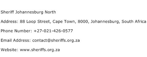 Sheriff Johannesburg North Address Contact Number