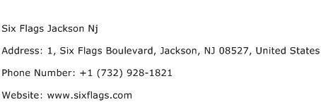 Six Flags Jackson Nj Address Contact Number
