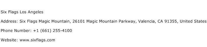 Six Flags Los Angeles Address Contact Number