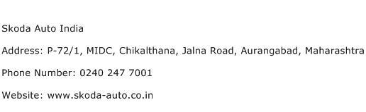 Skoda Auto India Address Contact Number