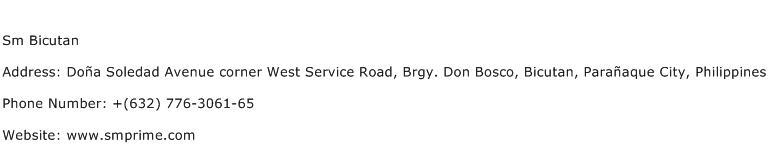 Sm Bicutan Address Contact Number