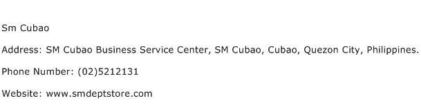 Sm Cubao Address Contact Number