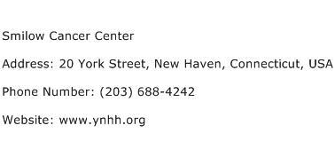 Smilow Cancer Center Address Contact Number