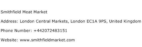 Smithfield Meat Market Address Contact Number