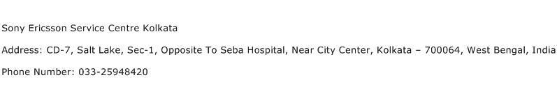 Sony Ericsson Service Centre Kolkata Address Contact Number