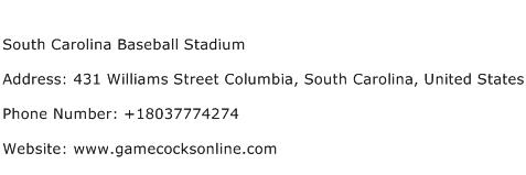 South Carolina Baseball Stadium Address Contact Number