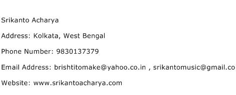 Srikanto Acharya Address Contact Number