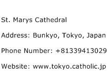 St. Marys Cathedral Address Contact Number