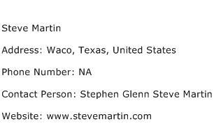 Steve Martin Address Contact Number