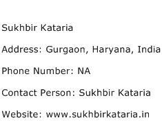 Sukhbir Kataria Address Contact Number