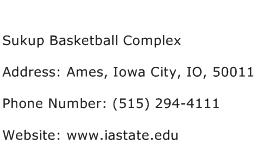 Sukup Basketball Complex Address Contact Number