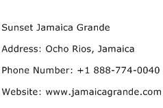 Sunset Jamaica Grande Address Contact Number