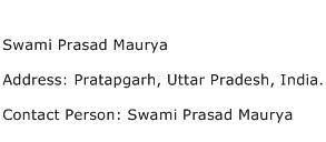 Swami Prasad Maurya Address Contact Number