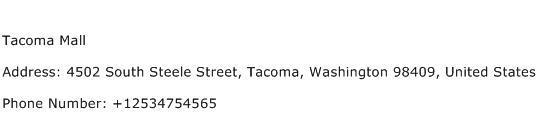 Tacoma Mall Address Contact Number