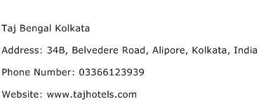 Taj Bengal Kolkata Address Contact Number
