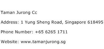Taman Jurong Cc Address Contact Number