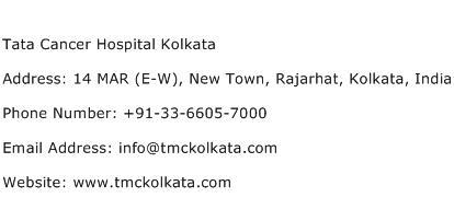 Tata Cancer Hospital Kolkata Address Contact Number