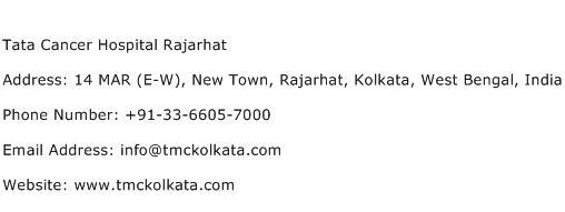 Tata Cancer Hospital Rajarhat Address Contact Number