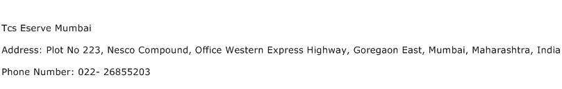 Tcs Eserve Mumbai Address Contact Number