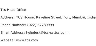 Tcs Head Office Address Contact Number
