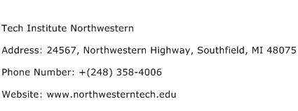 Tech Institute Northwestern Address Contact Number