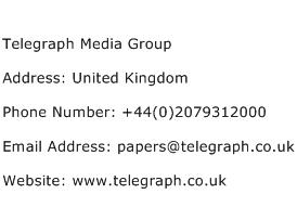 Telegraph Media Group Address Contact Number