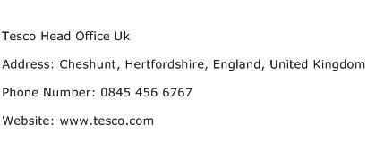 Tesco Head Office Uk Address Contact Number