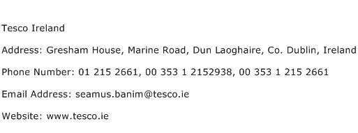 Tesco Ireland Address Contact Number