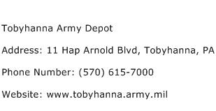 Tobyhanna Army Depot Address Contact Number