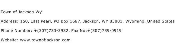 Town of Jackson Wy Address Contact Number
