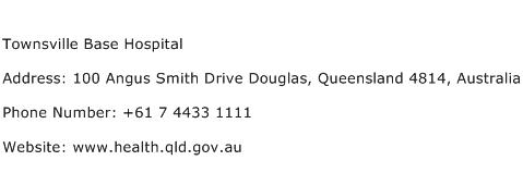Townsville Base Hospital Address Contact Number