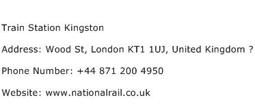Train Station Kingston Address Contact Number