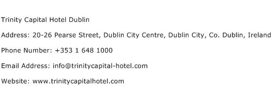Trinity Capital Hotel Dublin Address Contact Number