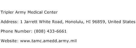 Tripler Army Medical Center Address Contact Number