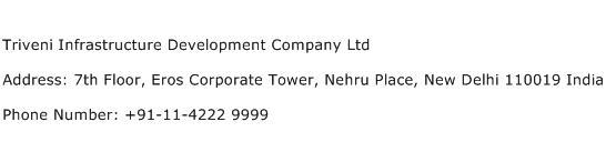Triveni Infrastructure Development Company Ltd Address Contact Number